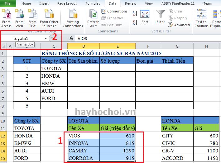 cách sử dụng data validation