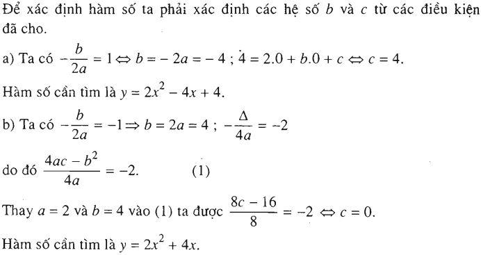 bài tập áp dụng hàm số  bậc 2