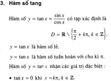 hàm số lượng giác hàm tang