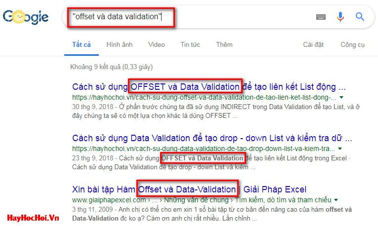 cách tìm kiếm trên google với dấu nháy kép