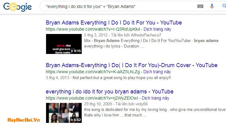 sử dụng dấu cộng trong tìm kiếm google