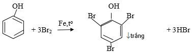 phenol + br2 tạo kết tủa trắng