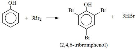 phenol + Br2