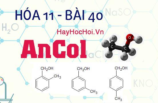 tính chất hóa học của ancol