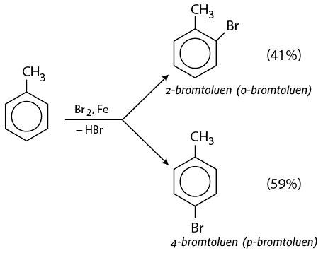 ankyl benzen + br2