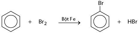 benzen phản ứng với brom