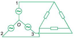 Cách mắc mạch điện 3 pha hình tam giác