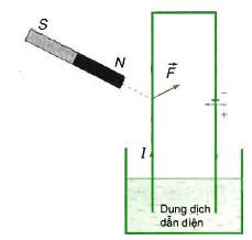 lực từ do nam châm tác dụng lên dòng điện
