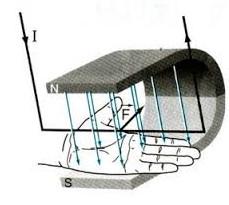 Quy tắc bàn tay trái xác định chiều lực điện từ