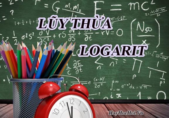 lũy thừa và logarit và bài tập toán 12