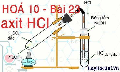 tính chất hoá học của axit clohiđric HCl hoá 10 bài 23
