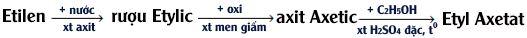 liên hệ giữa etilen ruou etylic và axit axetic