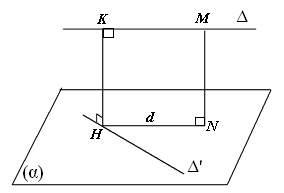 Tính khoảng cách giữa 2 đường chéo nhau c1