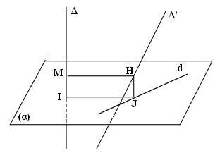 tính khoảng cách giữa 2 đường thẳng chéo nhau c2