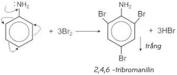 phương trình phản ứng của anilin với brom