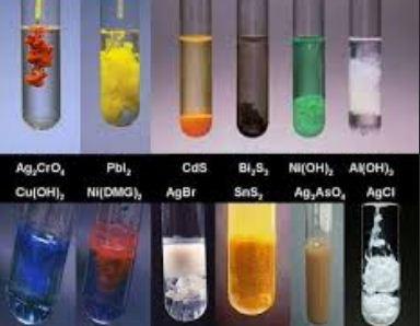 màu kết tủa của một số chất hóa học thường gặp