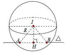 mặt phẳng cắt mặt cầu tại 2 điểm