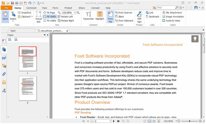Phần mềm nén file PDF Foxit Reader