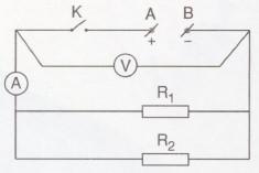 sơ đồ mạch điện mắc song song hình 5.1 sgk vật lý 9