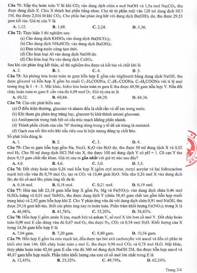 Đề tham khảo thi tốt nghiệp THPT 2021 môn Hóa học p03